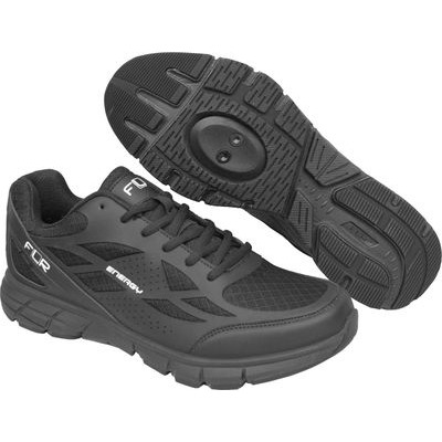 FLR Energy Active Spinning Shoe inc. Free Cleats in Black