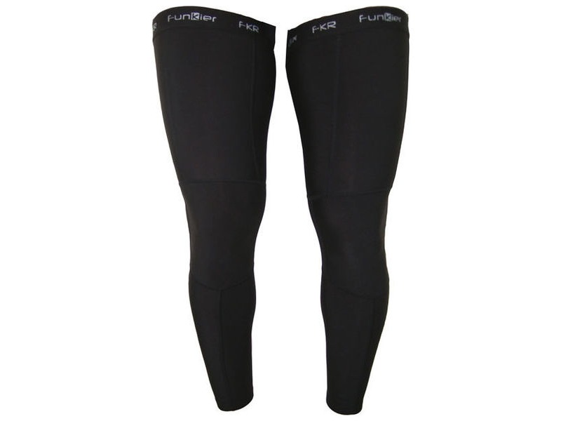 Funkier Garray LW03 Winter Thermal Leg Warmers in Black click to zoom image