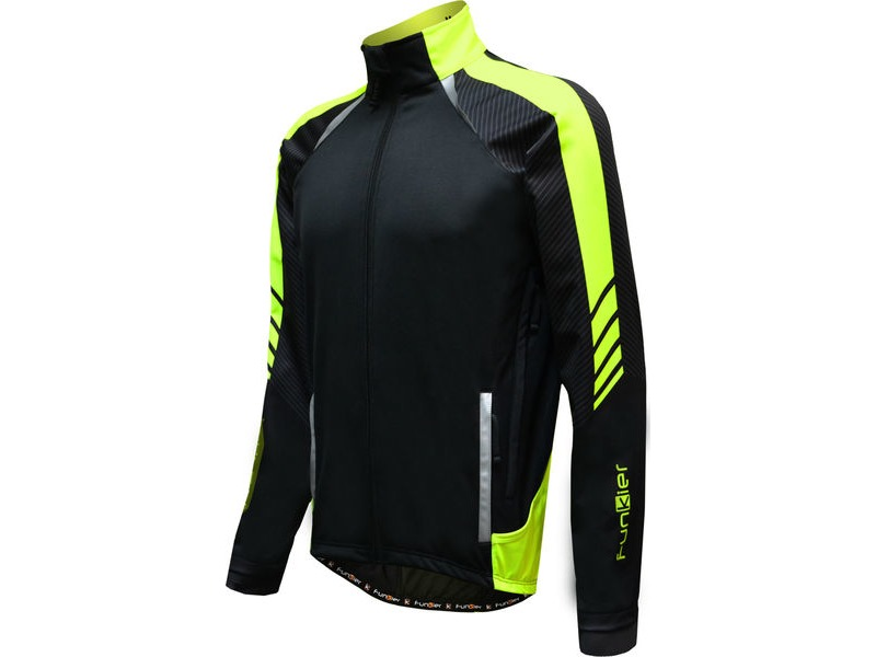 Funkier Tornado WJ-1326 Gents TPU Thermal Jacket in Black/Yellow click to zoom image