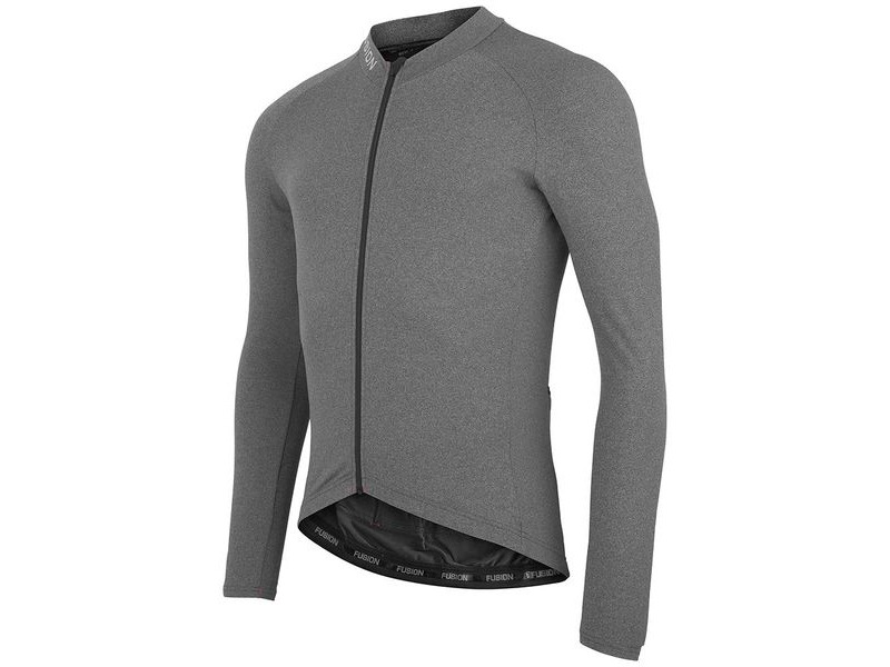 Fusion C3 LIGHT LS JERSEY GREY MELANGE click to zoom image