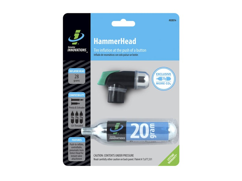 Genuine Innovations Hammerhead CO2 Inflator click to zoom image