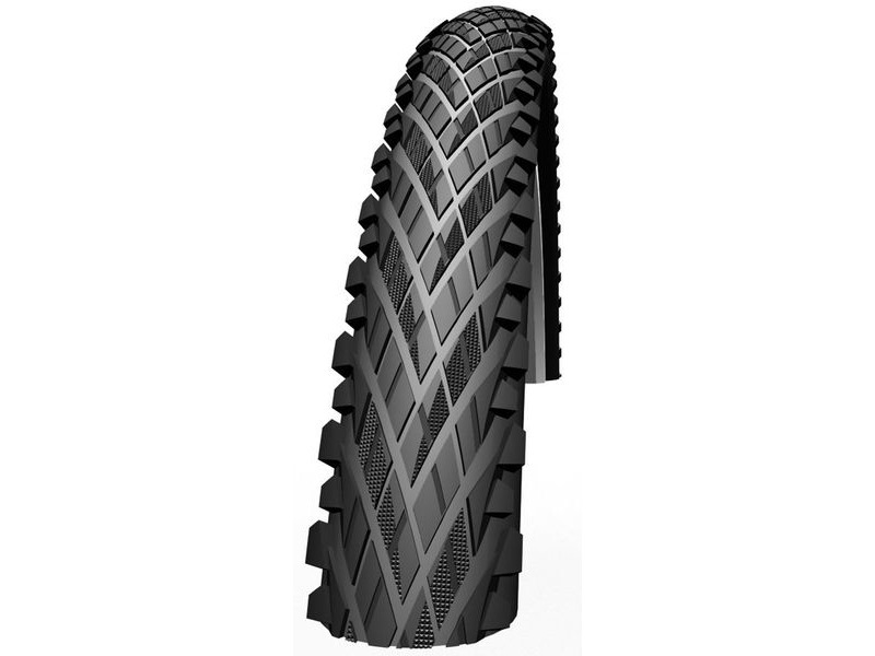 "Schwalbe Impac Crosspac Semi Slick Tyre in Black 26 x 2.00"". click to zoom image"