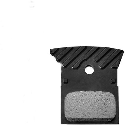 Shimano L03A disc brake pads and spring, alloy backed with cooling fins, resin