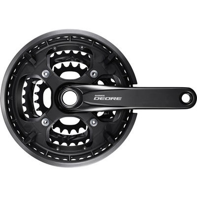 Shimano FC-T6010 Deore 10-speed chainset, 48/36/26T, with chainguard, black, 170mm