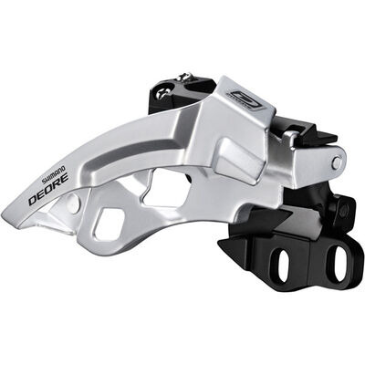 Shimano Deore M612-E triple front derailleur, E-type, side swing, front pull