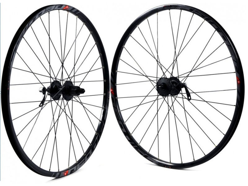 "KX 27.5"" 650B Mach 1 Disc / Deore 9/10 Speed MTB Wheels PAIR click to zoom image"
