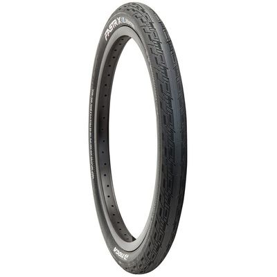 Tioga Fastr X S-Spec Black Label Race tyre, 120TPI, Folding Bead, 110PSi, AvntGUARD Layer, Universal front or rear use tread. 20x1.75""
