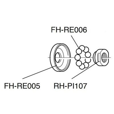 Campagnolo Spares Hubs RH-PI107 - Left Hand Cone For Rear Hub