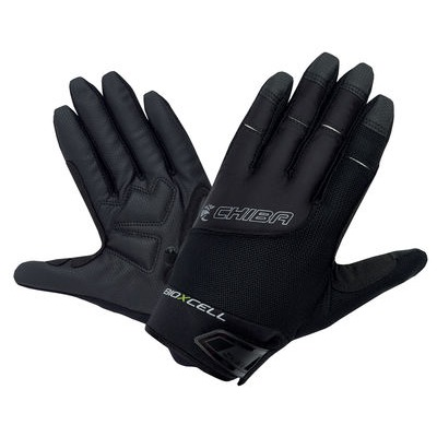 Chiba BioXCell Full Fingered Touring Gloves in Black